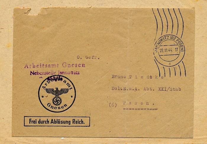 Briefumschlag Dolmetscher-Kompanie